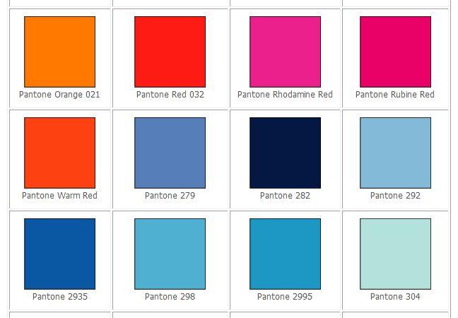 Pantone Color Selector