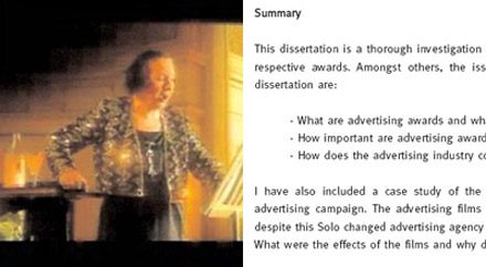 Dissertation advertising awards